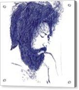 Pen Portrait Acrylic Print