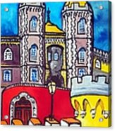 Pena Palace In Sintra Portugal  Acrylic Print