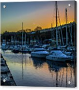 Penarth Harbour In Wales Acrylic Print