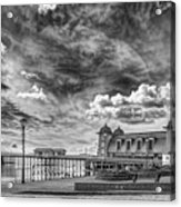 Penarth Pier Morning Light 1 Mono Acrylic Print