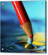 Pencil Drip Acrylic Print