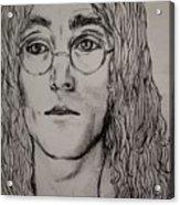 Pencil Portrait Of John Lennon  Acrylic Print