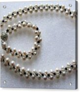 Pendant And Bracelet With Beads Acrylic Print