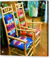 Pendleton Chairs Acrylic Print