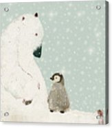 Penguin And Bear Acrylic Print