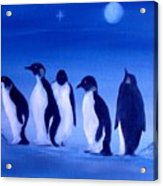Penguins On A Night Out.sold Acrylic Print