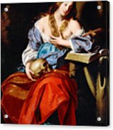 Penitent Mary Magdalene Acrylic Print
