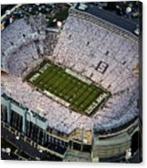 Penn State Aerial View Of Beaver Stadium Acrylic Print by Steve Manuel