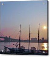 Penns Landing Sunrise Acrylic Print