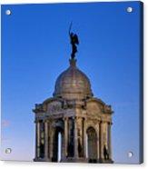 Pennsylvania Monument At Gettysburg Acrylic Print
