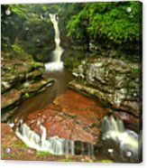 Pennsylvania Red Rock Falls Acrylic Print