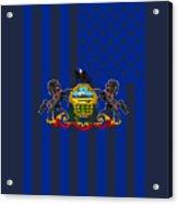 Pennsylvania State Flag Graphic Usa Styling Acrylic Print