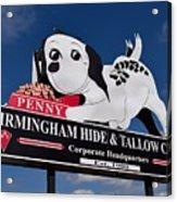 Penny Dog Food Sign 1 Acrylic Print