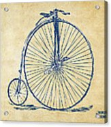 Penny-farthing 1867 High Wheeler Bicycle Vintage Acrylic Print by Nikki Marie Smith