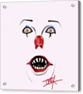 Pennywise The Clown Acrylic Print by Danielle LegacyArts