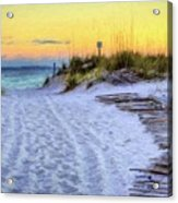 Pensacola Beach Orange Acrylic Print