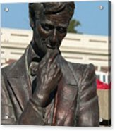 Pensive Lincoln Acrylic Print by David Bearden