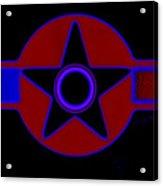 Pentagram In Red Acrylic Print
