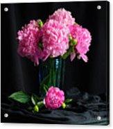 Peonies - Beauty The Brave Acrylic Print
