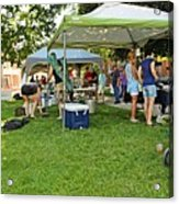 People At Food Event 3 Acrylic Print