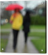 People In The Rain Acrylic Print