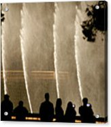 People Watching Fountain At Bellagio Acrylic Print