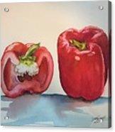 Pepper and half Acrylic Print