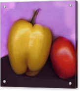 Pepper And Tomato Acrylic Print