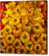 Pepper Colors Acrylic Print