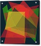 Pepper Polygon Pattern Acrylic Print