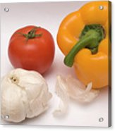 Pepper, Tomato And Garlic Acrylic Print