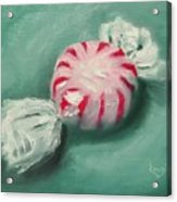 Peppermint Candy Acrylic Print