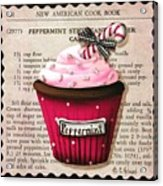 Peppermint Stick Christmas Cupcake Acrylic Print