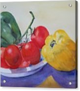 Peppers And Tomatoes Acrylic Print