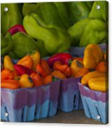 Peppers At The Produce Market Acrylic Print