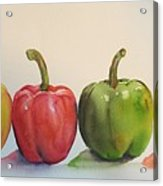 Peppers four Acrylic Print