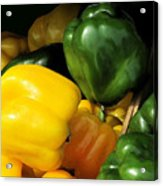 Peppers Yellow And Green Acrylic Print