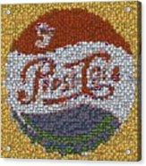 Pepsi Bottle Cap Mosaic Acrylic Print
