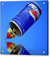 Pepsi Can Hot Air Balloon At Solberg Airport Reddinton  New Jersey Acrylic Print