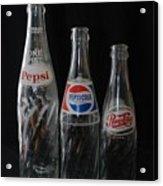 Pepsi Cola Bottles Acrylic Print