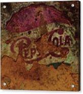 Pepsi Cola Vintage Sign 5a Acrylic Print