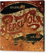 Pepsi Cola Vintage Sign 5b Acrylic Print
