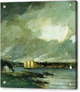 Pequot Light House Connecticut Coast 1902 Acrylic Print
