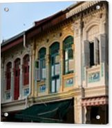 Peranakan Architecture Design Houses And Windows Joo Chiat Singapore Acrylic Print