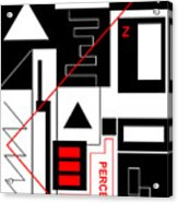 Perception I - Text Acrylic Print