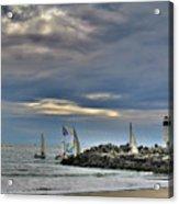 Perfect Beach And Smooth Sailing Acrylic Print