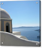 Perfect Day In Santorini Acrylic Print