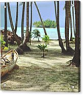 Perfect Tropical Paradise Islands With Turquoise Water And White Sand Acrylic Print