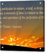 Perfection Of Nature Acrylic Print