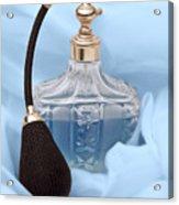 Perfume Bottle Still Life I In Blue Acrylic Print